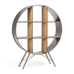 Helia timber & metal shelving