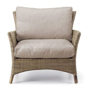 Adnaul rattan armchair with woven stone fabric