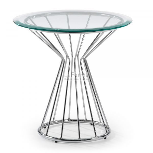 Lime side table in glass clear