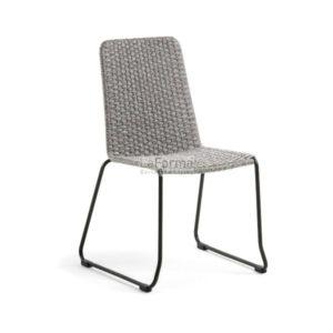 Maggie rope chair w/ steel legs