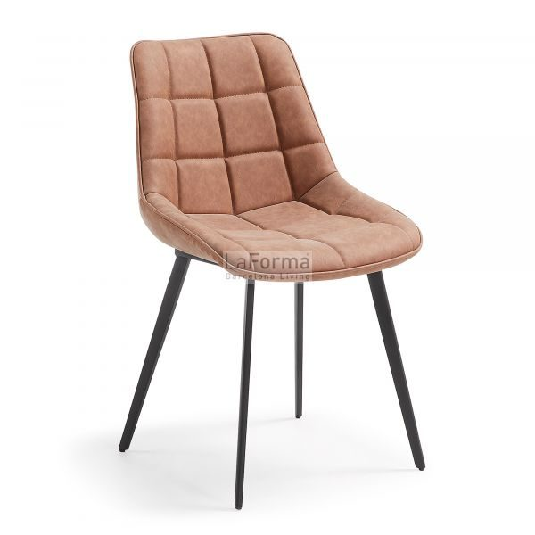 Adah dining chair with metal legs